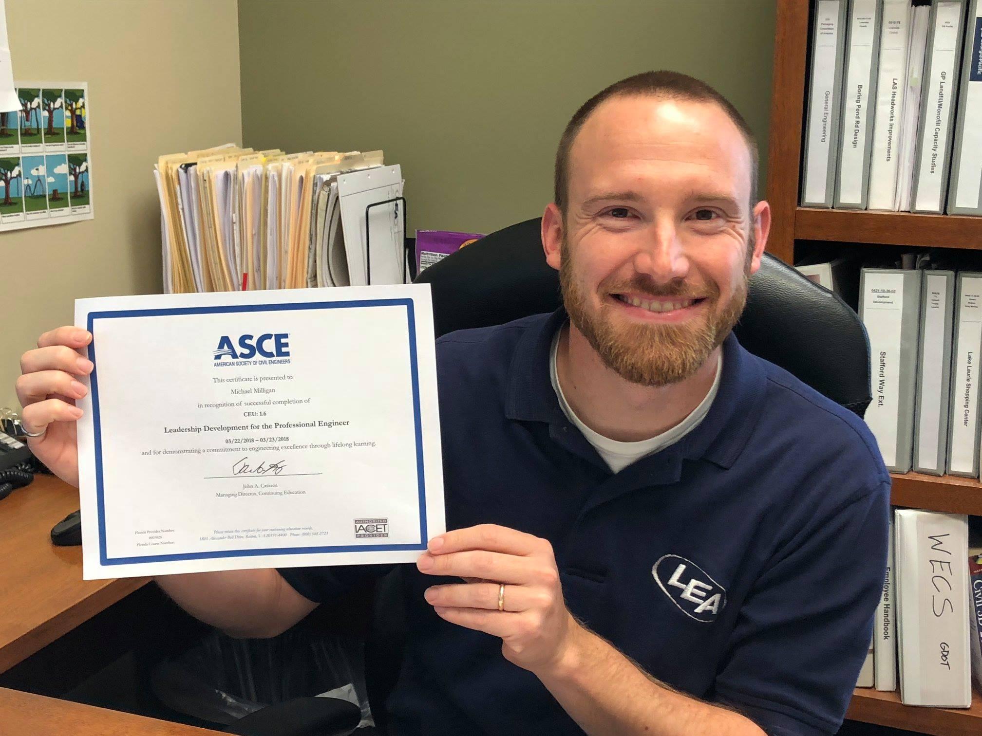 CM Completes ASCE Leadership Development