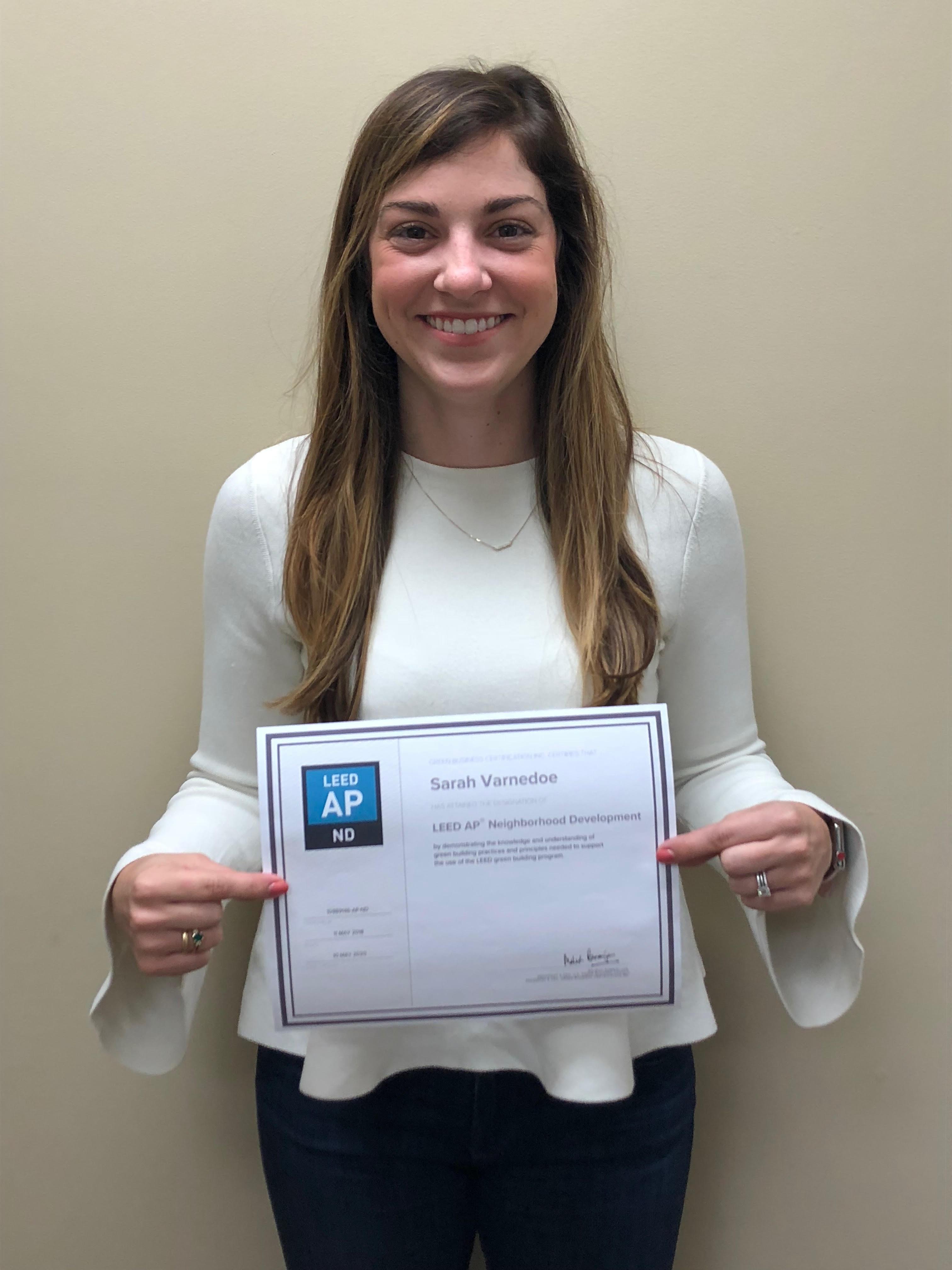 Sarah LEED Certified